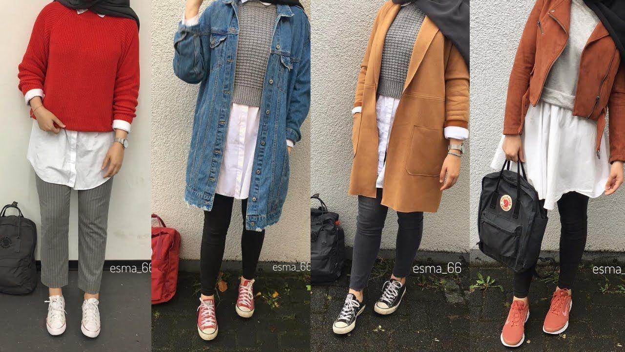ملابس تركية شتوية للمحجبات 2019 1 أحدث موديلات ملابس شتوية للمحجبات Hijabi Outfits Casual Korean Outfit Street Styles Hijab Casual