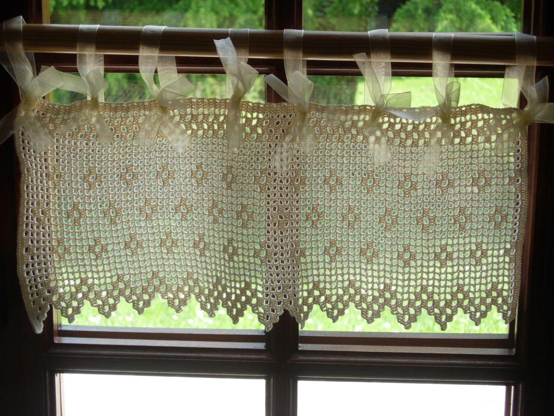 modele rideau breton crochet gratuit recherche google rideau valance curtains curtains. Black Bedroom Furniture Sets. Home Design Ideas