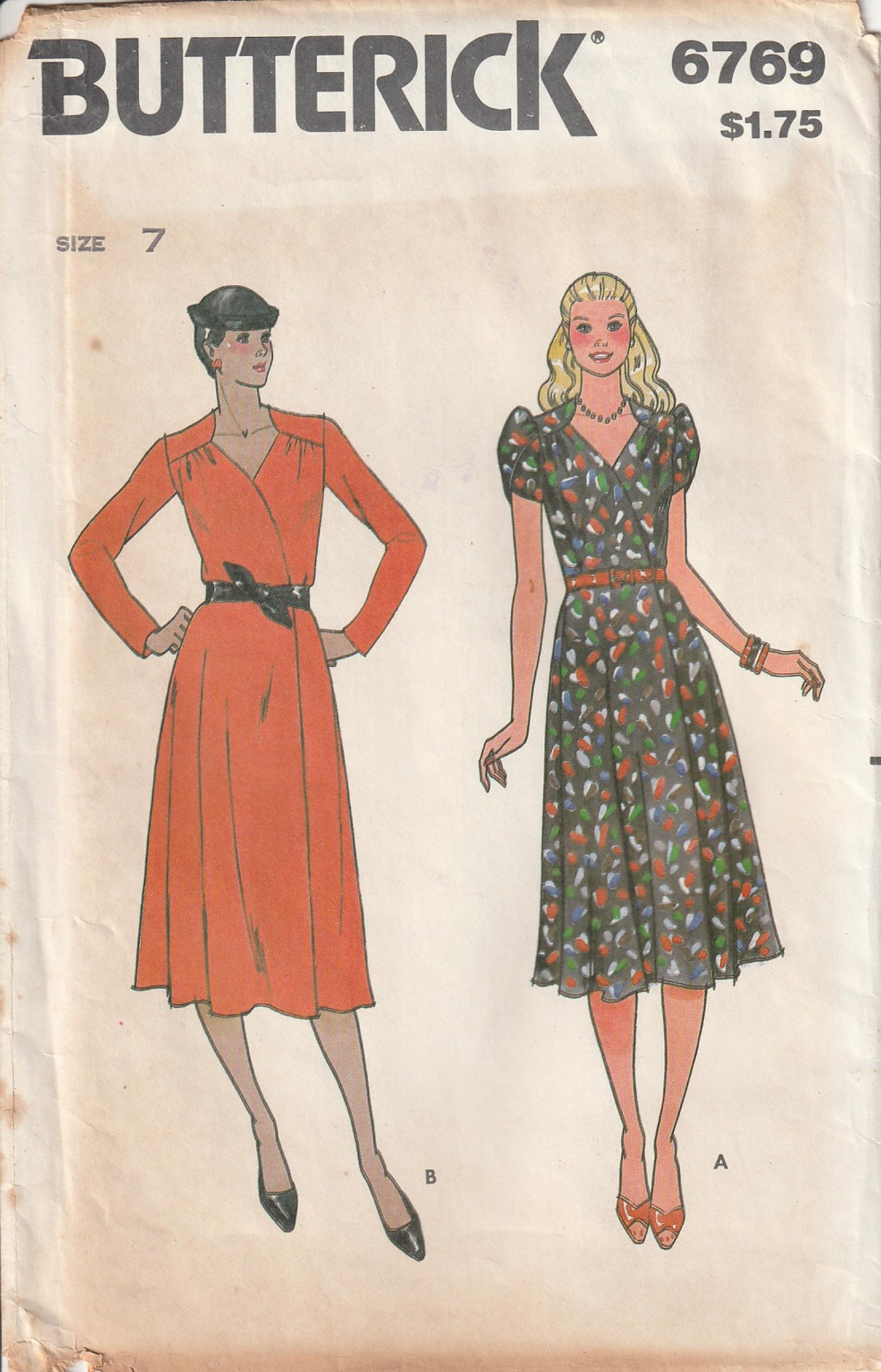 Vintage 70 S Butterick 6769 Front Wrap Dress Semi Fitted Etsy In 2021 Wrap Dress Petal Sleeve Butterick [ 1559 x 1000 Pixel ]