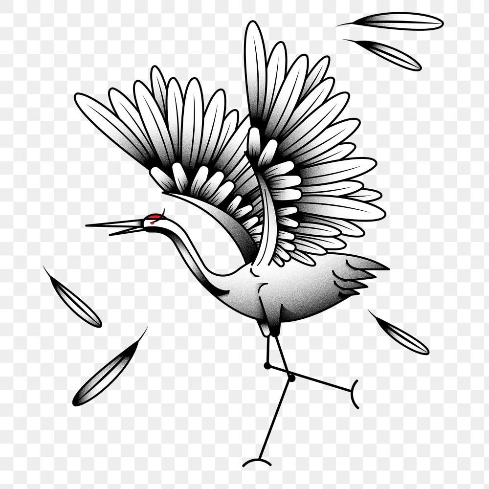 Japanese Red Crowned Crane Bird Tattoo Design Element Free Image By Rawpixel Com Bird In 2020 Birds Tattoo Crane Bird Design Element