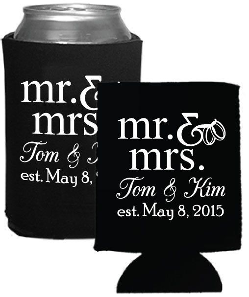 personalized wedding favors beer koozies coolies by factory21