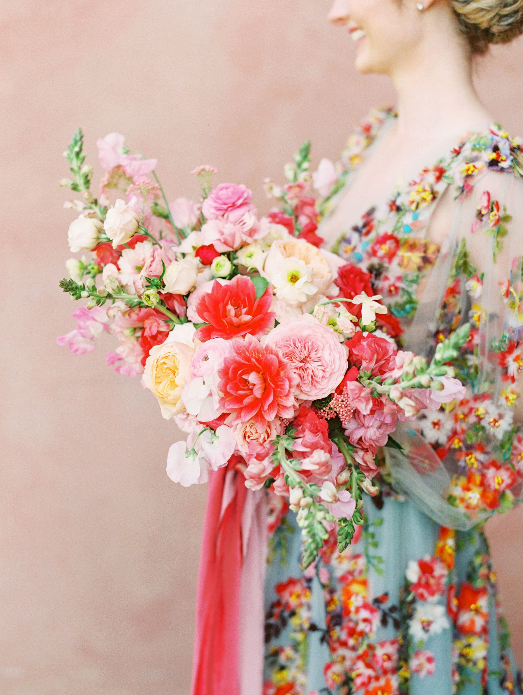 A Bright Colorful San Diego Wedding Inspired By Smoothies Pink Wedding Centerpieces Gorgeous Wedding Bouquet Bridal Bouquet