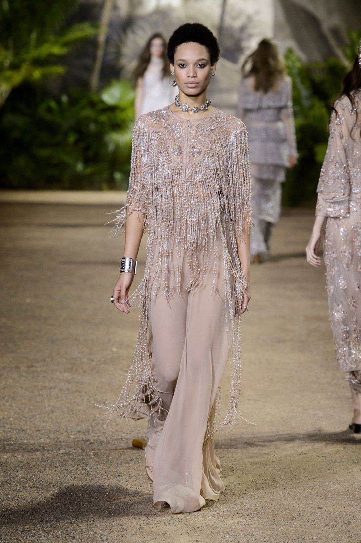 0b51649c2264 Pin for Later: Elie Saab's Couture Collection Is Full of Dreamy Dresses and  Sparkling Pants — Yes, Pants