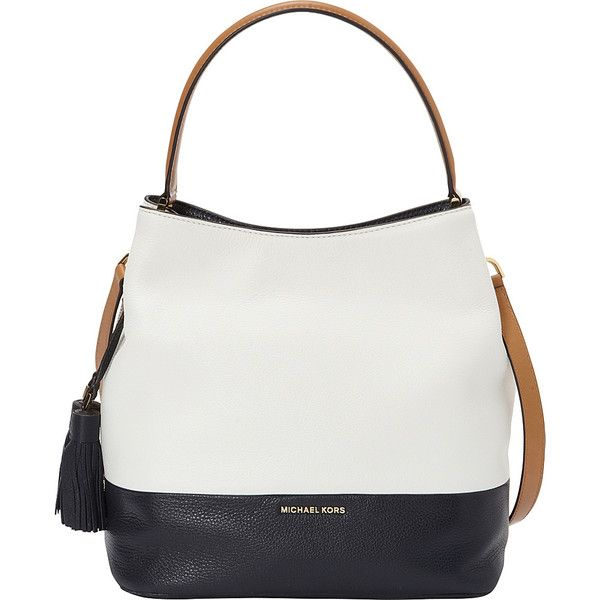 c3201b05c14a Michael Michael Kors Kip Large Bucket Bag- Colorblock ($378) ❤ liked on  Polyvore