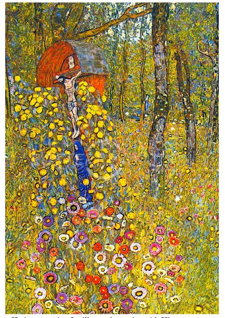 Gustav Klimt Leinwandbild Mohnwiese