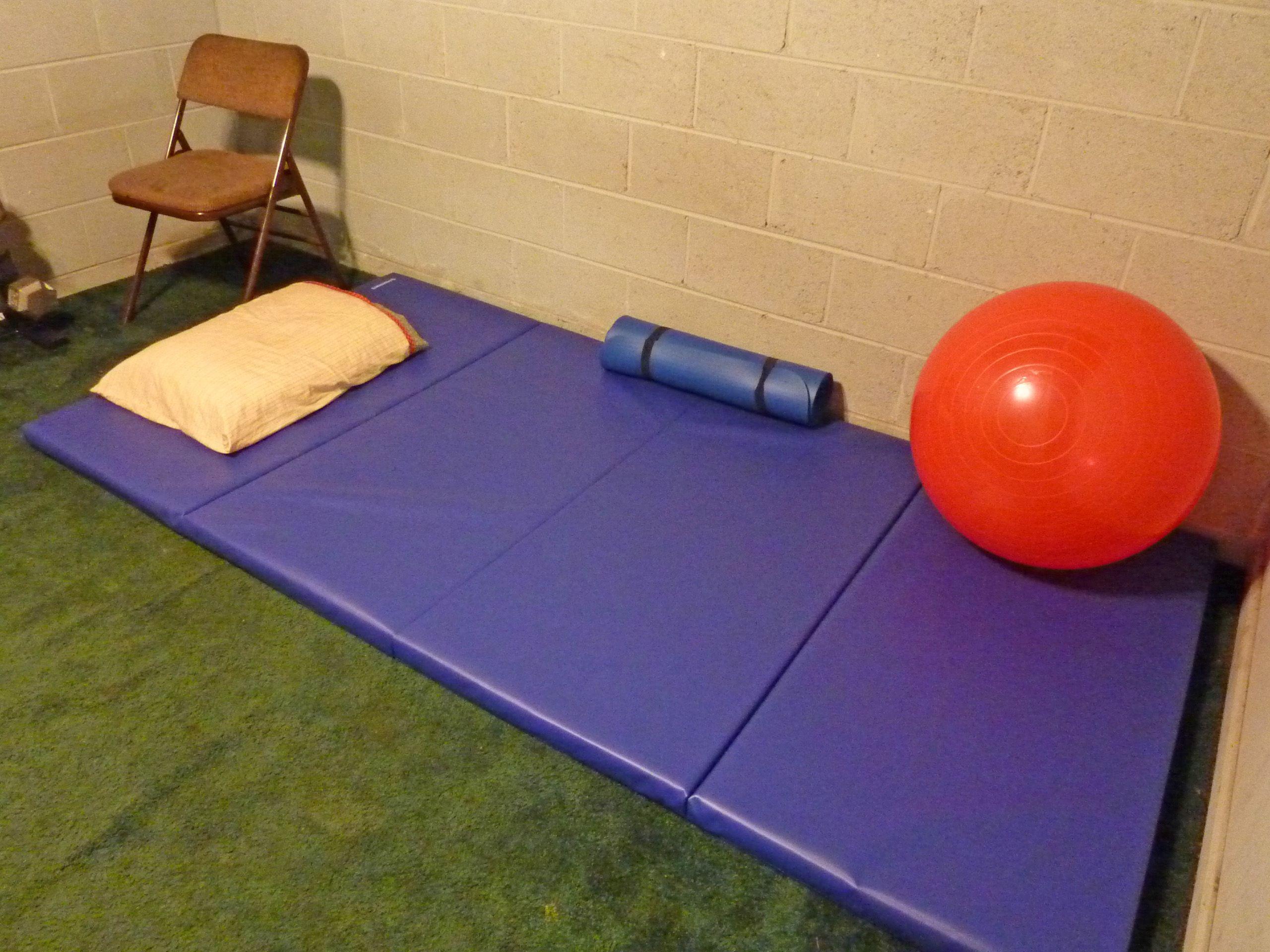 Tumbling Blue Black Gym Mat 4x8 Ft X 2 Inch Folding Gym Mat Gym Mats Folding Gym Mat Floor Workouts