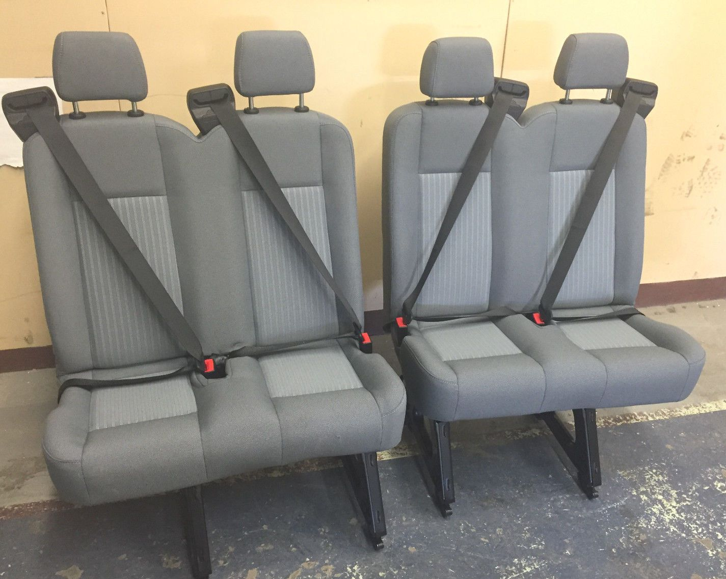 2015 Ford Transit Van 4 Person Bench 2 Double Seats Gray