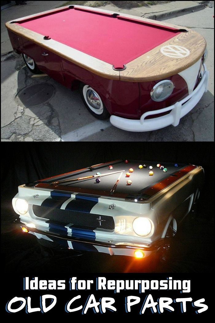 How awesome are these old car parts turned into pool tables? For ...