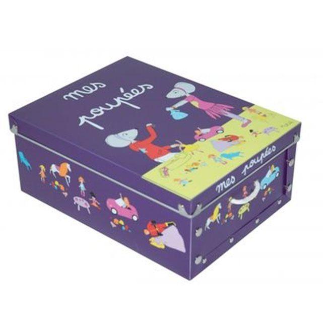 Boite de rangement déco en plastique enfant violet - Mes poupées   Boite de rangement, Enfant et ...