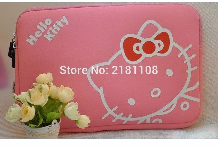 14cdd2b15eba Carton Hello Kitty Sleeve Soft Pouch Case Cover Pink Bag for MacBook ...