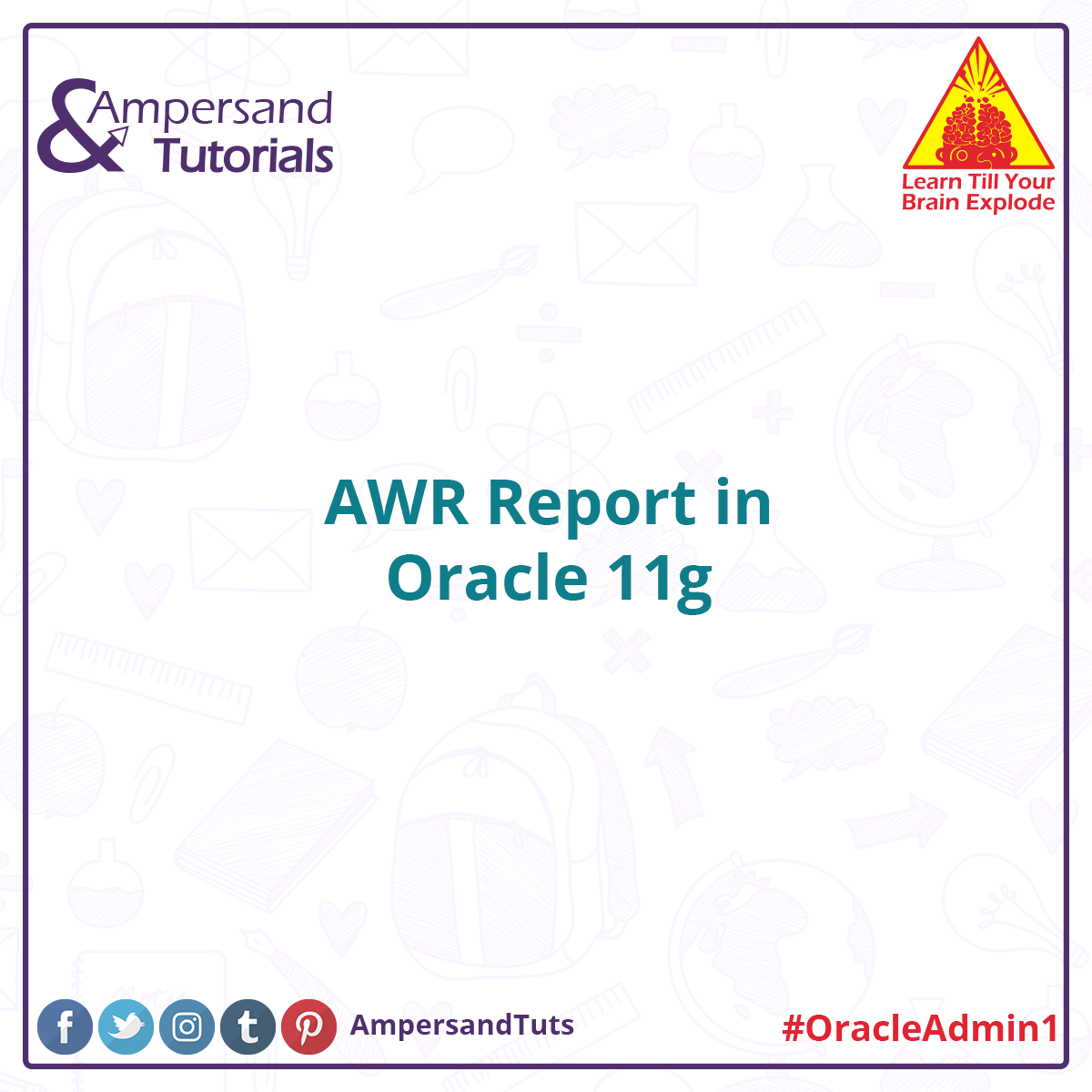 Awr report in oracle 11g ampersandtutorials oracle oracledba awr report in oracle 11g ampersandtutorials oracle oracledba oracleadmin oracle11g baditri Gallery