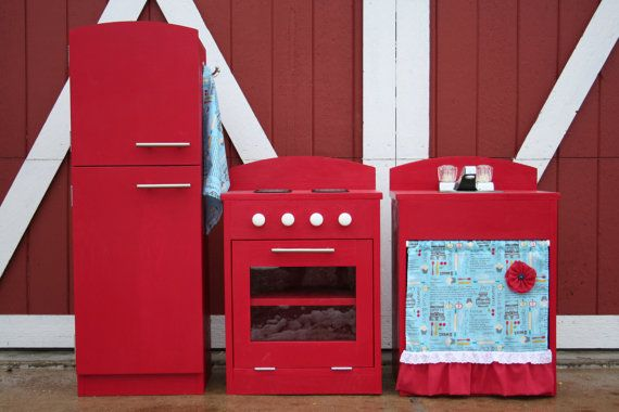 Sale 100 Dollars Off Children S Wood Play Kitchen Set By Howtweet