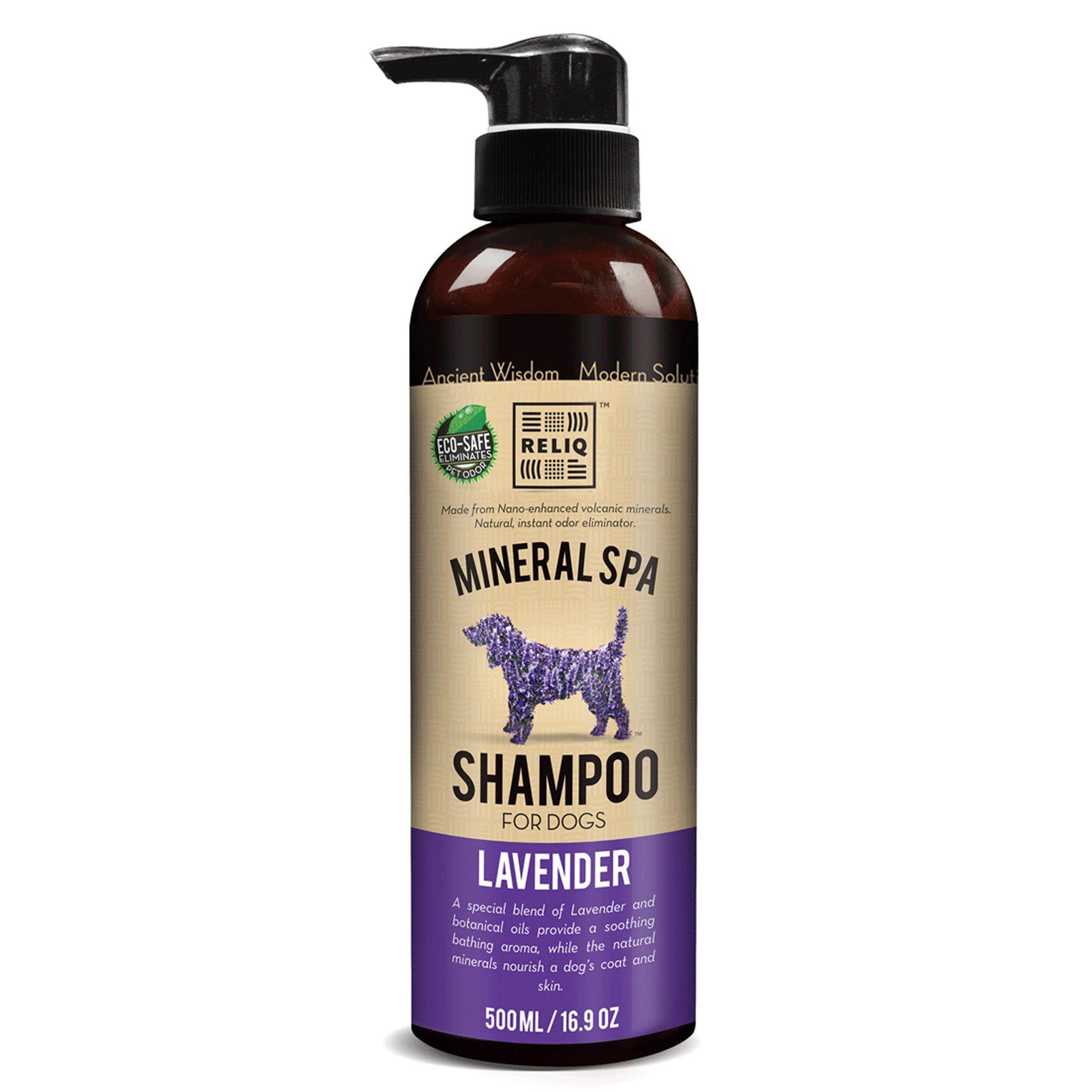 Reliq Pet Lavender Mineral Spa Shampoo For Dogs 16 9 Fl Oz 16 9 Fz Shampoo Natural Dog Shampoo Dog Shampoo