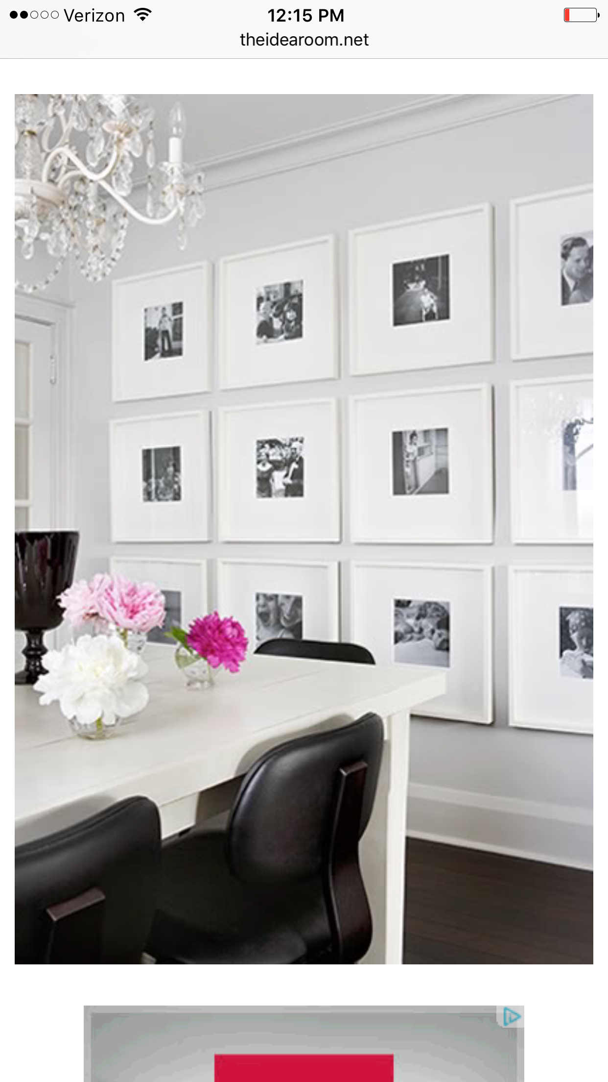 Gallery Wall Idea Using White Frames From Ikea Black And