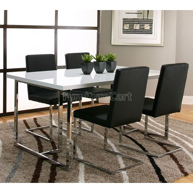 spica dining room set with black chairs cramco furniture cart rh pinterest com