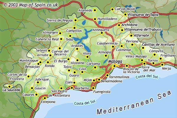 mapa de malaga mapas Pinterest Malaga Ecuador and Spain