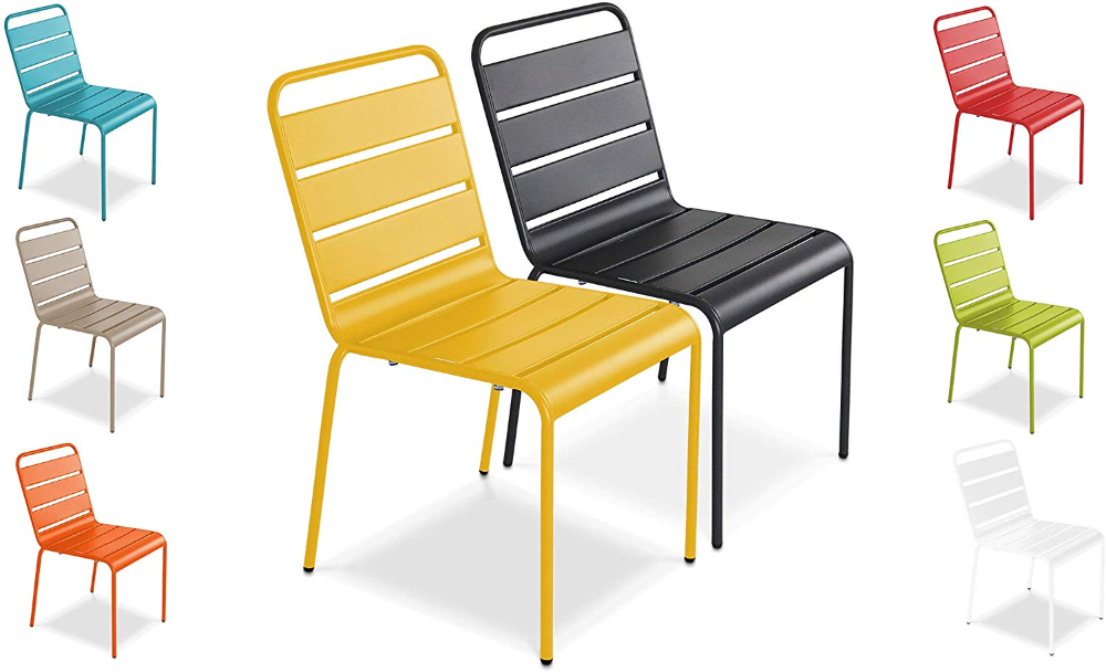 oviala chaise de jardin metal design