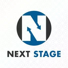 Exclusive Customizable Logo For Sale: Next Stage   StockLogos.com