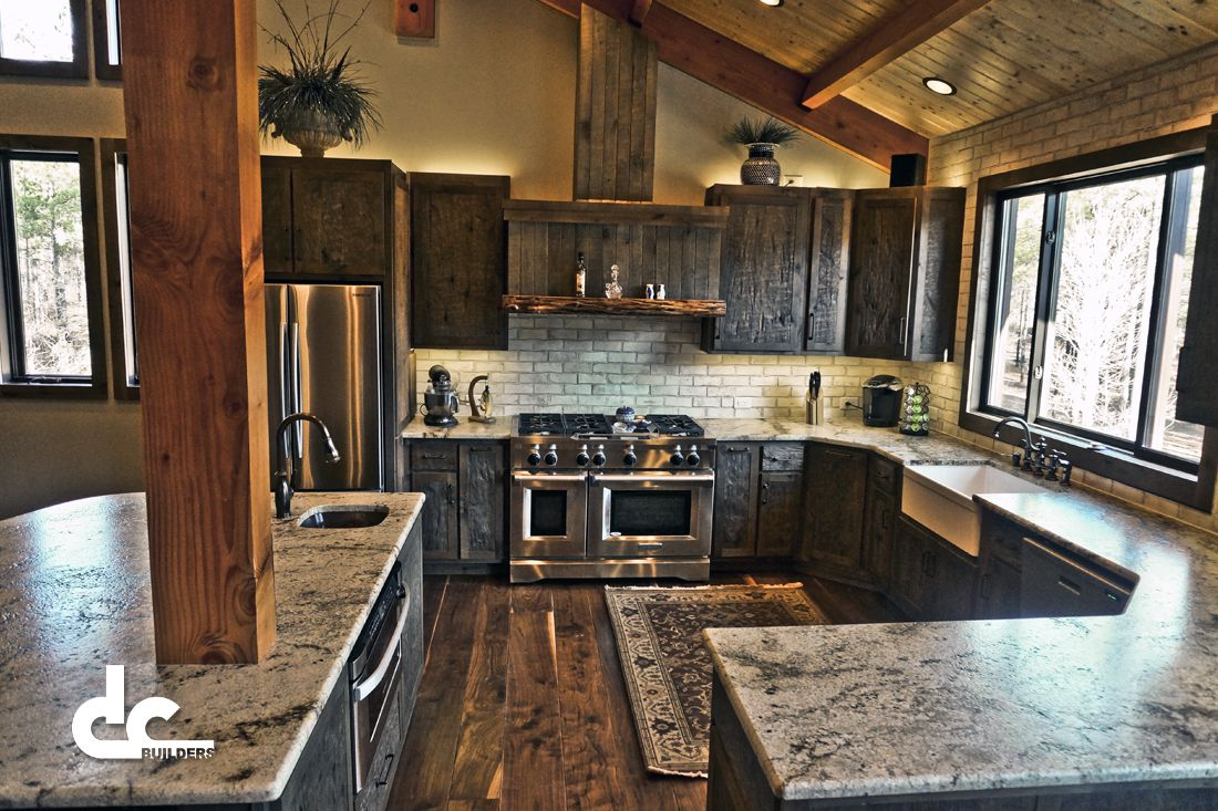 Barn Kitchen Custom Timber Frame Barn Home In Newnan Georgia Dc Building