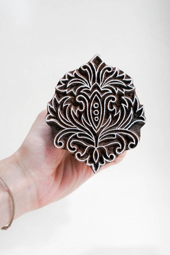 Wood Stamp by TATAindianwoodstamps on Etsy, $31.00