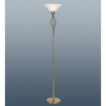 Torchiere floor lamp in antique brass finish cw murano style torchiere floor lamp in antique brass finish cw murano style glass shade mozeypictures Images