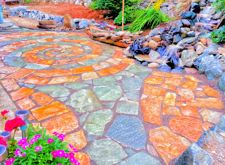 a start to something beautiful landscape pattern and swirls