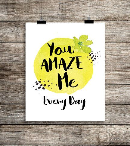 You Amaze Me - Digital Download, Printable Quote, Inspiring Art, typography design, calligraphy quote, child gift, floral by EncouragersforChrist on Etsy #youamazeme #amazedbyyou