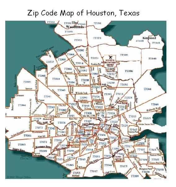 Houston City Zip Code Map Indiana Map - Map north texas cities