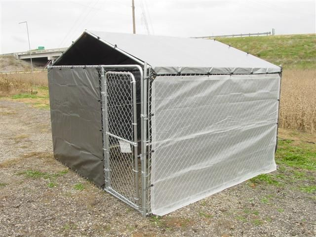 Dog Kennel Cover Winter Bundle For 10x10 Kennel Diy Dog Kennel Kennel Cover Dog Kennel Cover