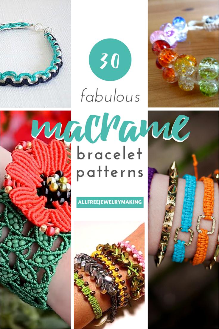 34 Fabulous Macrame Bracelet Patterns | Reifen und Armbänder