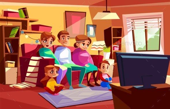 Living Room Background Cartoon Vertical