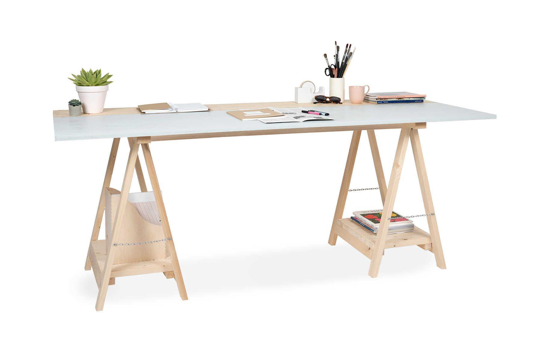 Tisch Arne Create By Obi Tischbock Tischplatten Holz Zuschnitt