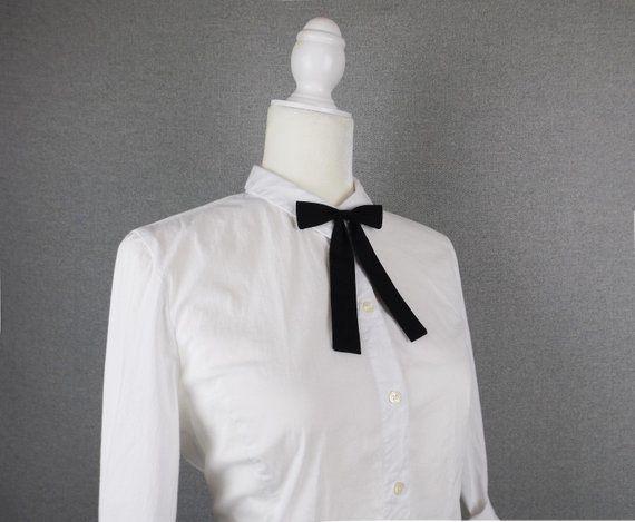 eedf5c62cf7a Black Cotton Western Style Bow Tie -Maverick Kentucky Colonel Style ...