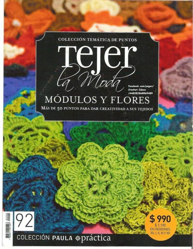 Revista gratis Módulos y flores en crochet | Mis manualidades Carmen ...