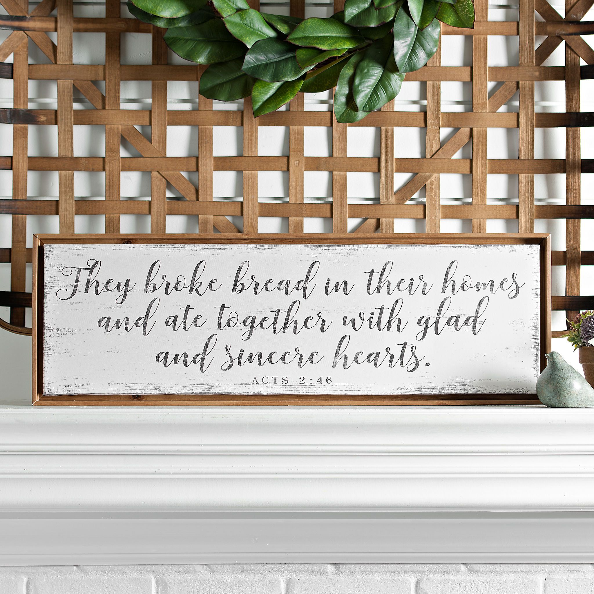 They Broke Bread Framed Canvas Art Print | Pinterest