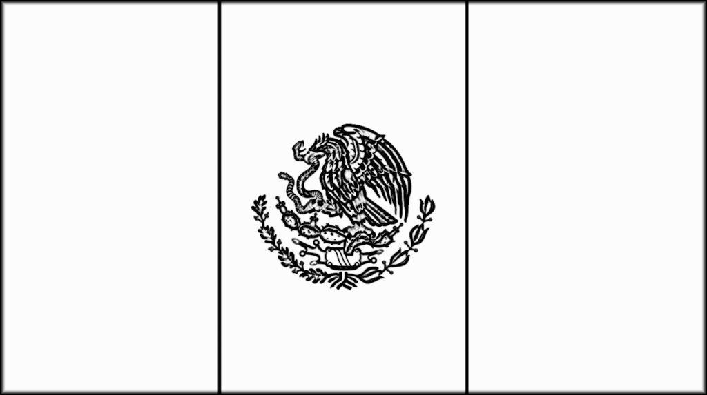 Mexico Flag Coloring Page Bandera De Mexico Dibujo Paginas Para