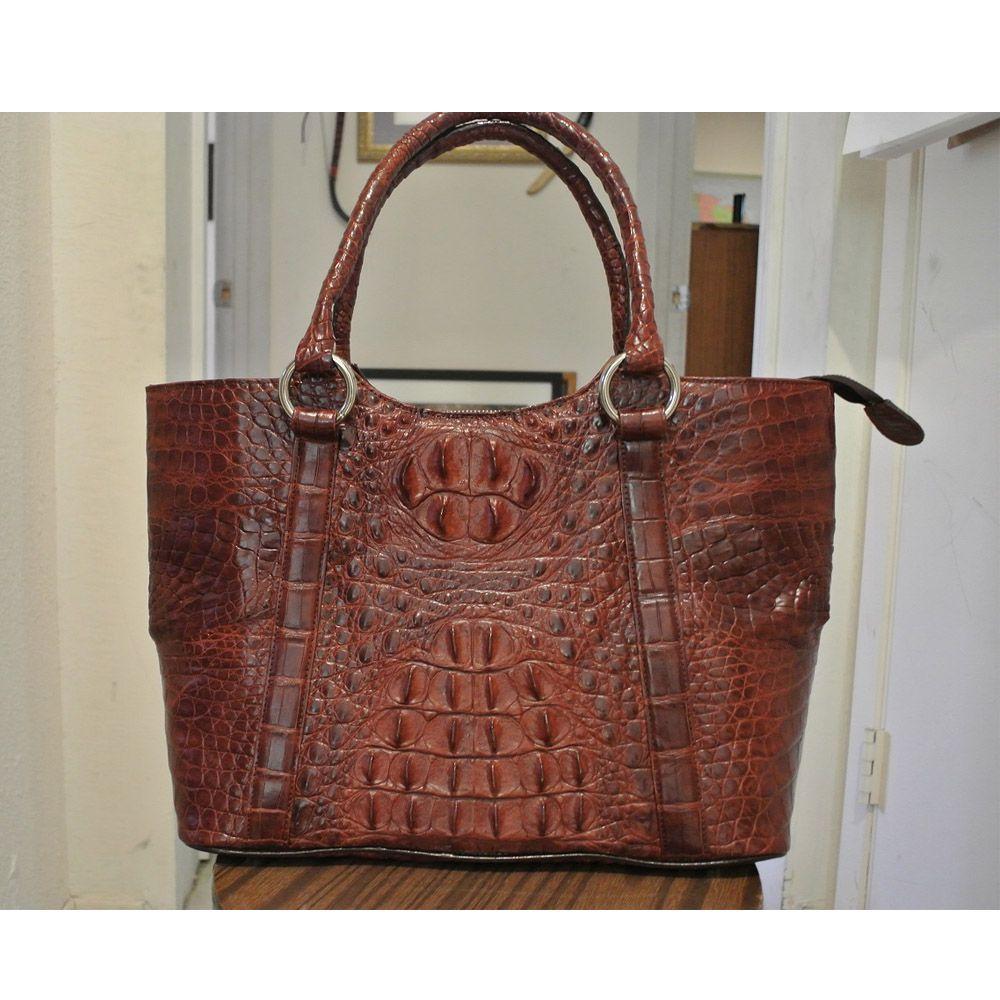 Red Brown Circle And Metal Strap Crocodile Handbag Cccs13 01 1000x1000 Jpg 1000