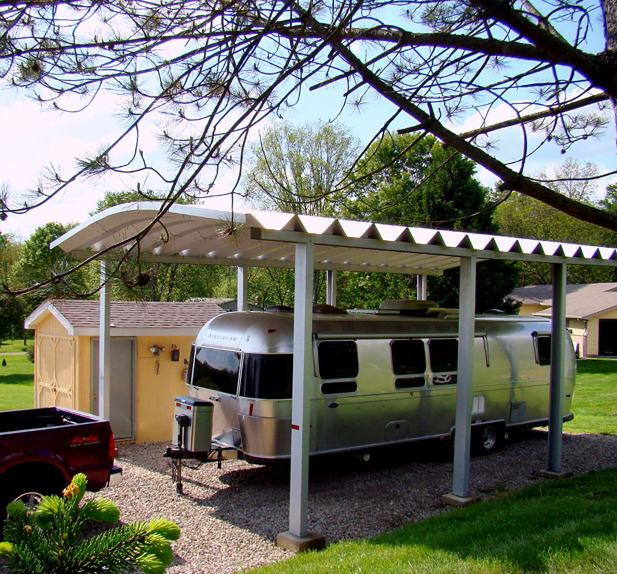 Steel Carport Garage Kits: Metal RV Garages: Prefab Steel Motorhome Garage Kits