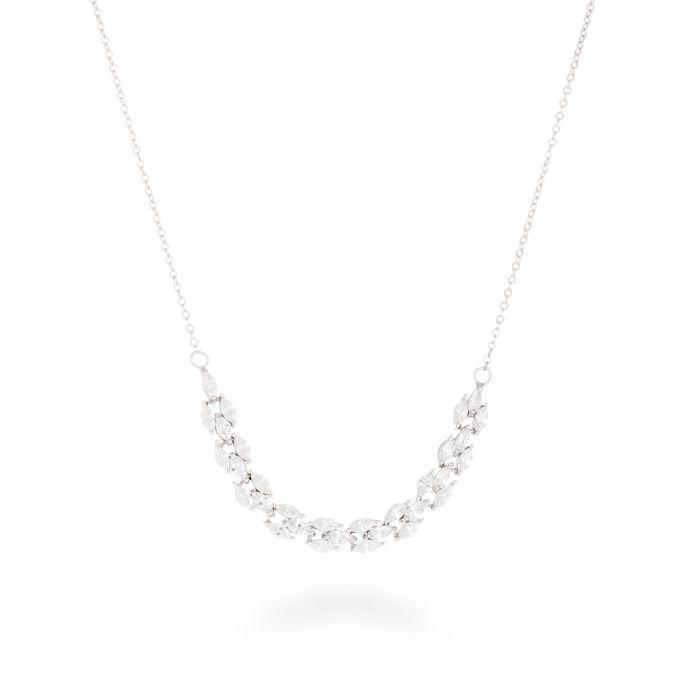 Canwo Necklace Silver White Zircon #LuxenterJoyas  #LuxenterTimeToShine
