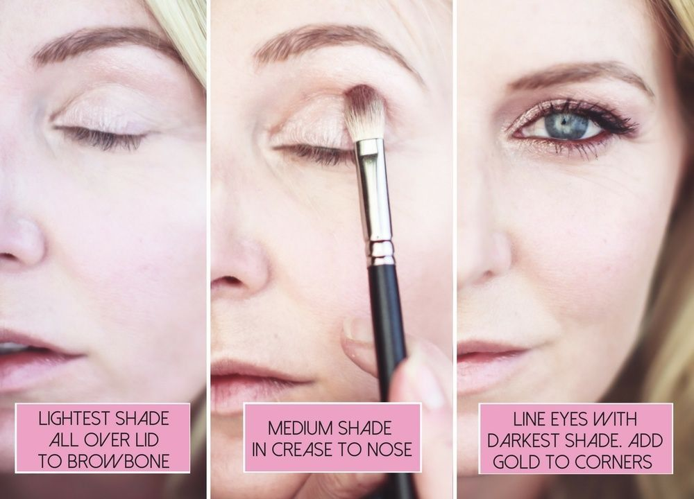 Fall Makeup Routine Updates Applying Eyeshadow Burgundy Eye Shadow