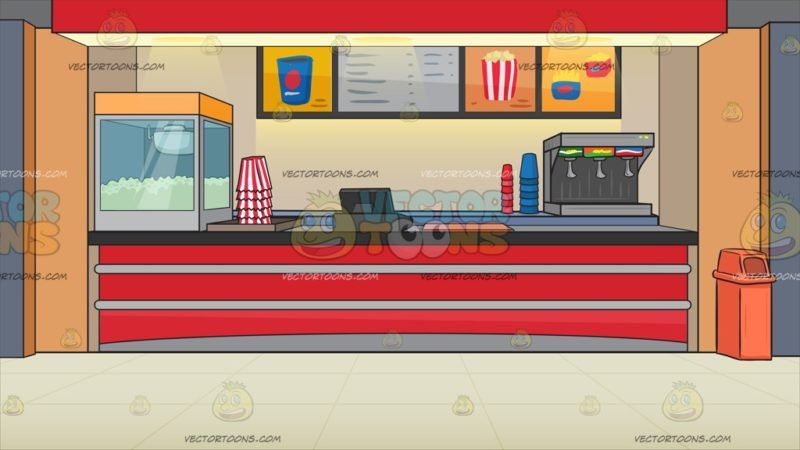 A Movie Snack Counter Background A Red With Gray And Black Counter With A Popcorn Machine Striped Red And White Movie Snacks Popcorn Machine Black Counters