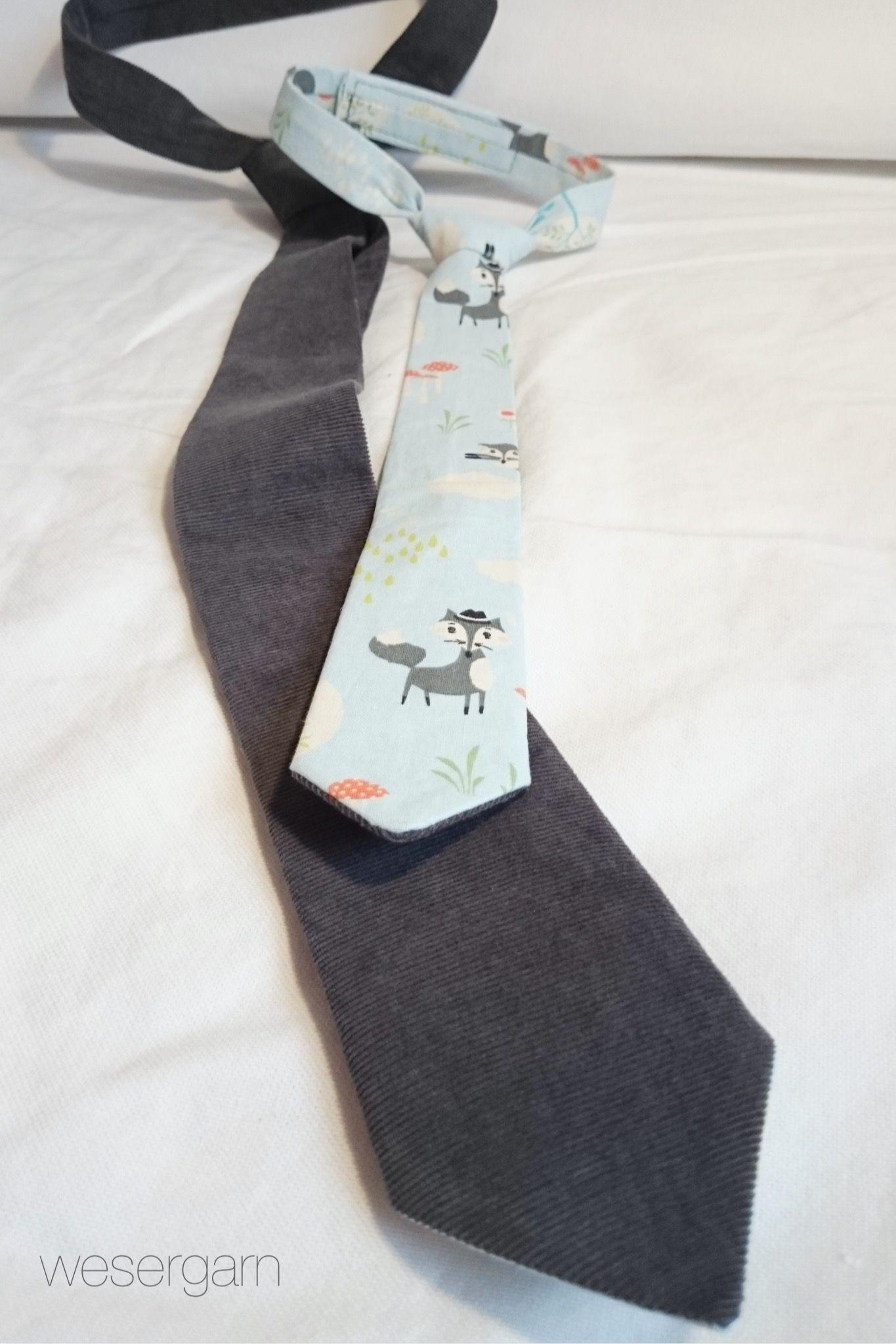 Schnittmuster Krawatte für Kinder und Erwachsene