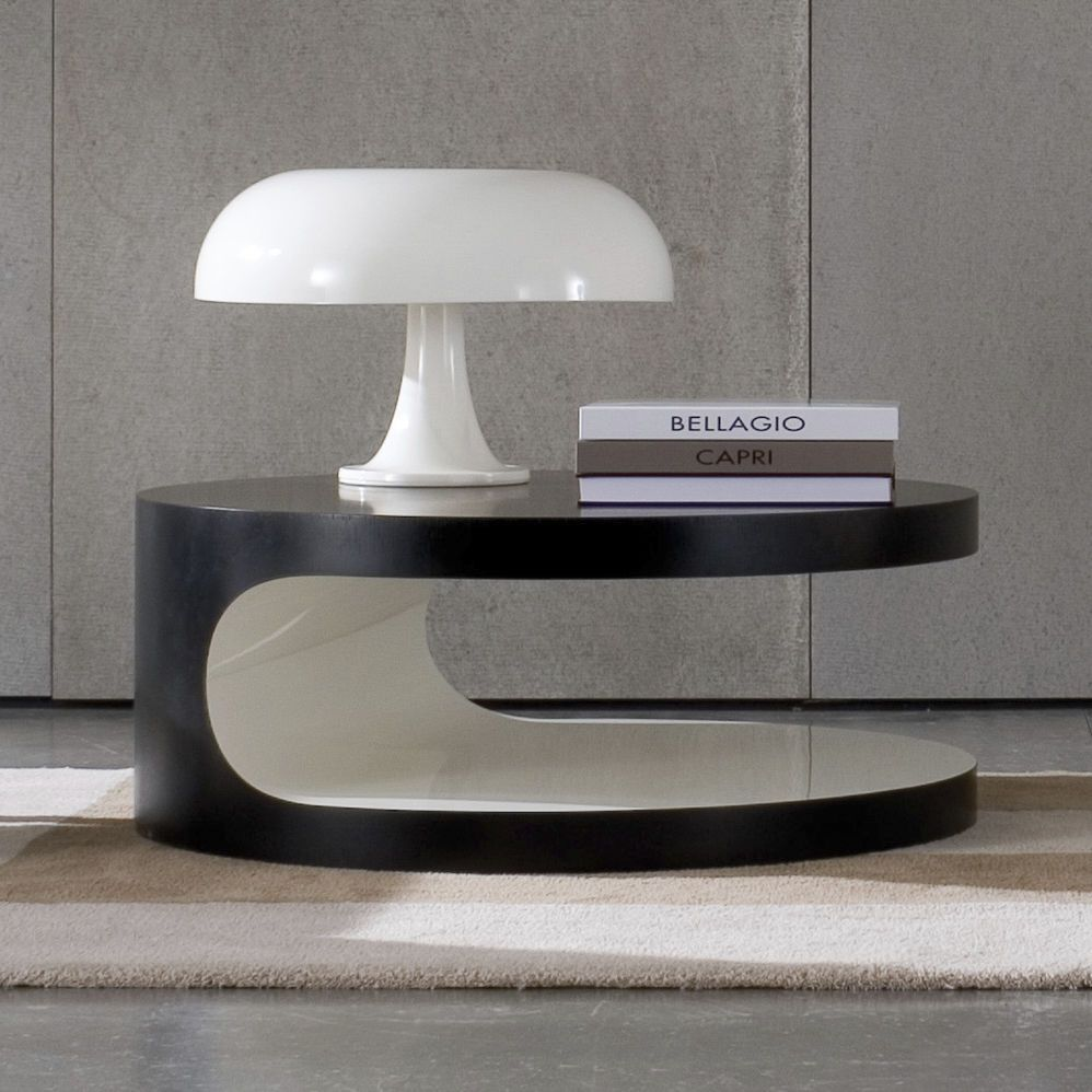 Side Table Round Contemporary Lacquered Wood Cernobbio By Gordon Guillaumier Minotti Architectural Lighting Design Lamp Minotti [ 998 x 998 Pixel ]