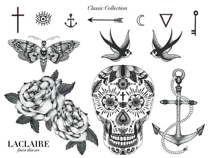 Les tattoos éphémères Laclaire