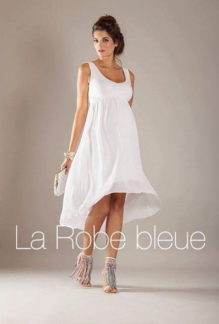 White summer dress, Spring Maternity Dress, Flowy Hi Low Hem Dress ...