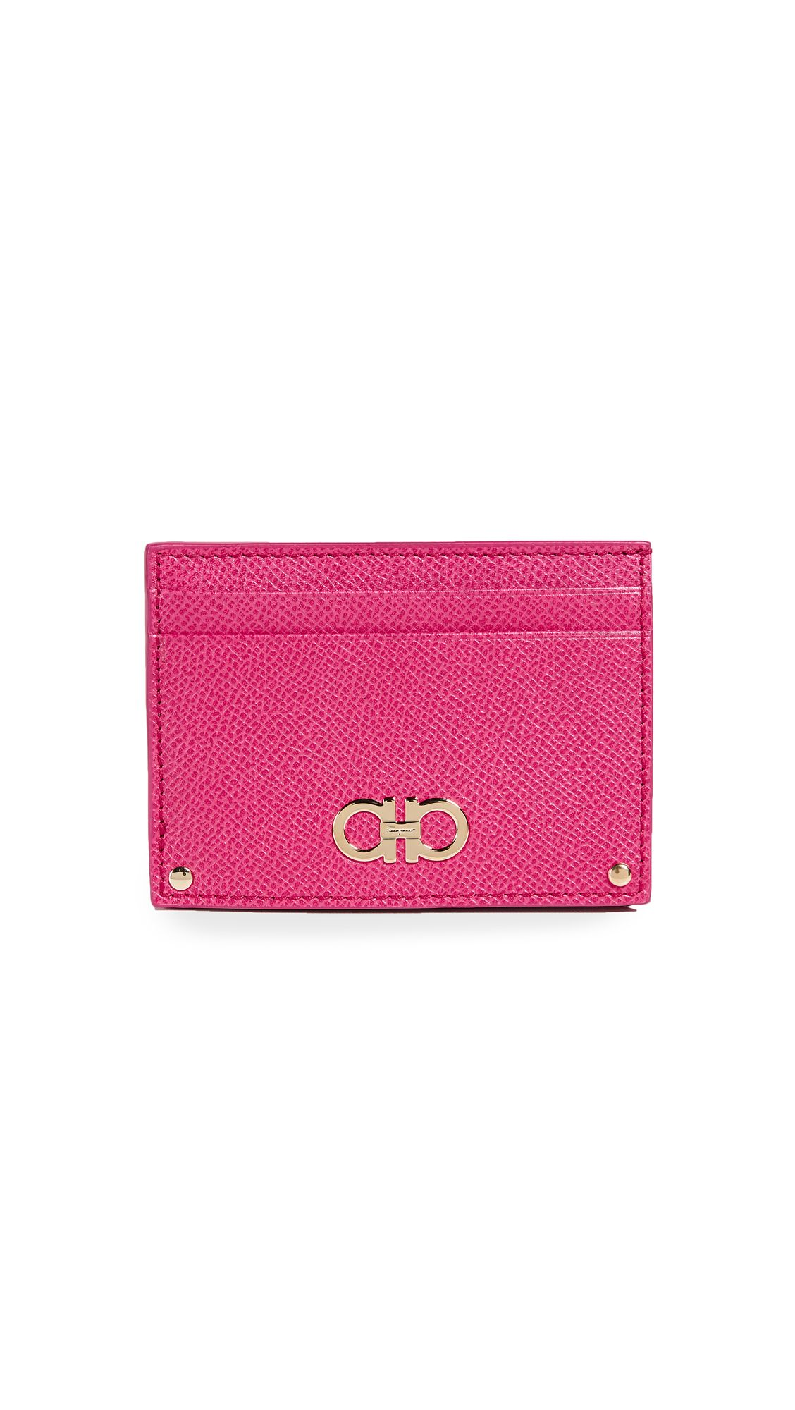 Gancini card holder - Pink & Purple Salvatore Ferragamo CFYh4jh3