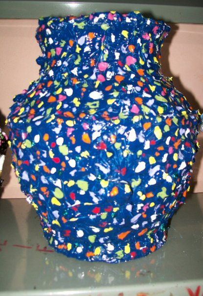 clay vase decorated with paint dots | my handmade stuff