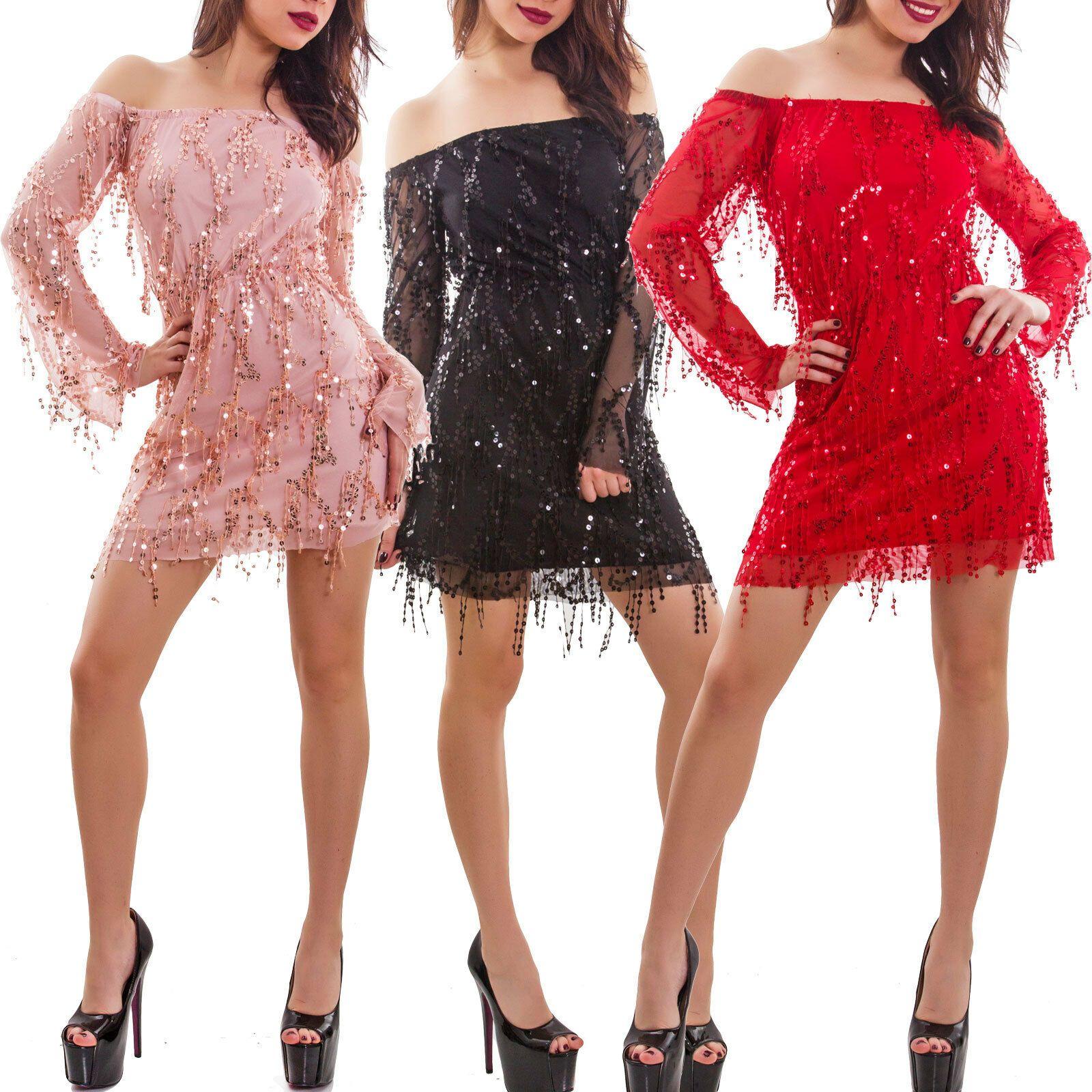 Paillettes vestito corto attillato per donna discoteca OUTFIT donne miniabito dress
