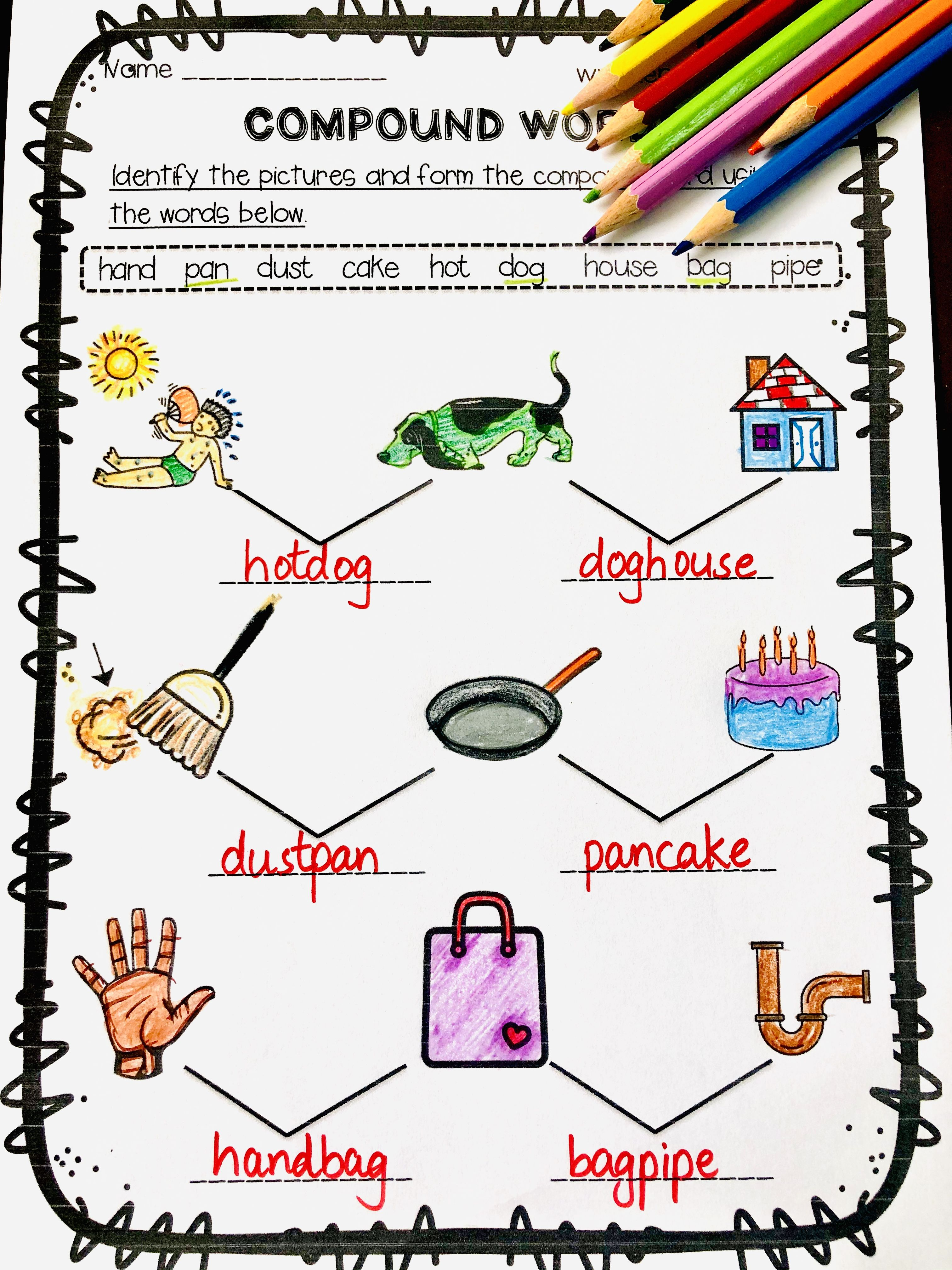 Compound Word Worksheets Free