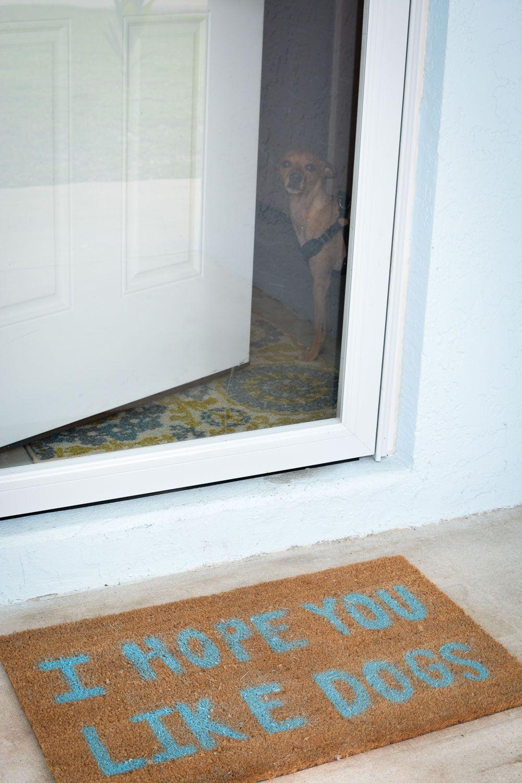 Diy Painted Doormat Door Mat Diy Door Mat Diy Painting